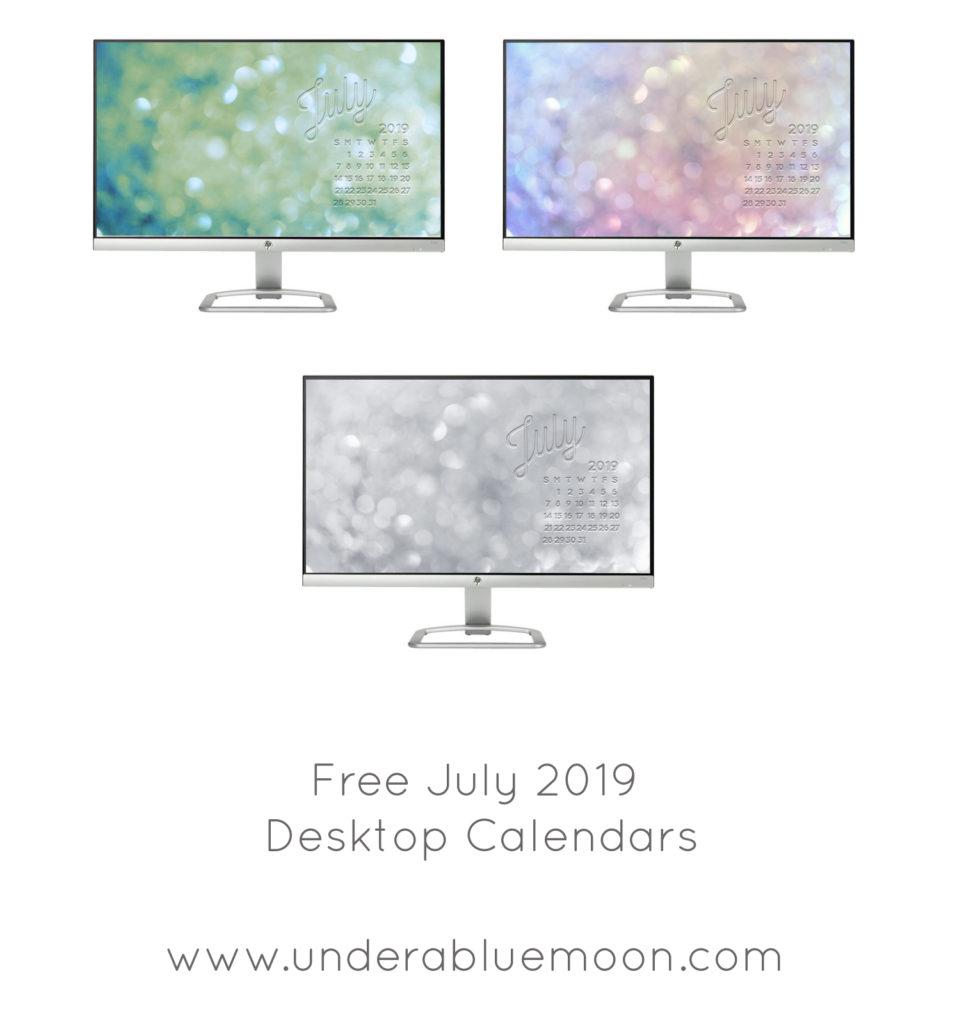 Free Desktop calendar - July - Under a Blue Moon